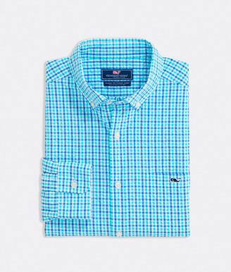 Vineyard Vines Big & Tall Classic Fit Saunders Seersucker Tucker Button-Down Shirt