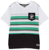 Beverly Hills Polo Club Bright White Stripe Jersey Tee - Toddler & Boys