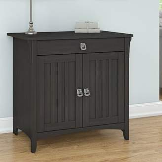 Three Posts Salina Secretary Desk Color: Vintage Black