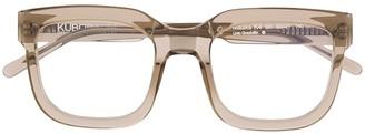 Kuboraum Transparent Square Frame Glasses