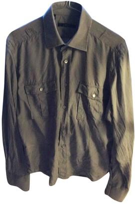 Gucci Khaki Silk Shirts