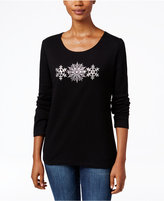 Karen Scott Snowflake Graphic Top, Only at Macy's