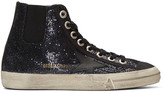 Golden Goose Deluxe Brand Blue V-Star 1 High-Top Sneakers