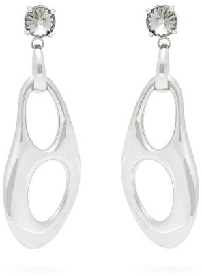 Prada Twisted Chain Earrings - Womens - Silver