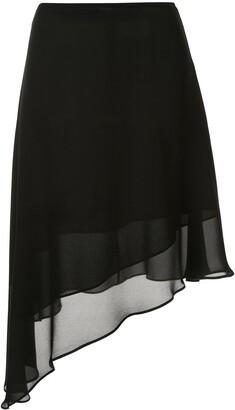 CK Calvin Klein Georgette layered skirt