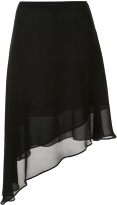 CK Calvin Klein Georgette layered skirt