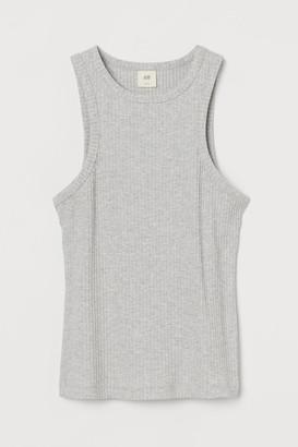 H&M Ribbed Tank Top - Gray