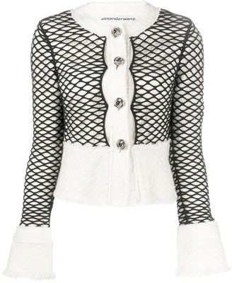 Alexander Wang Layered Mesh Cropped Jacket