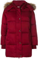 P.A.R.O.S.H. fur trim padded coat