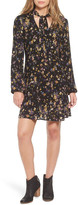 WAY-IN Tie Neck Floral Print Dress