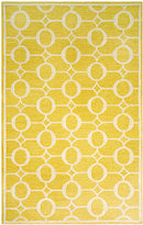 "Liora Manné Area Rug, Indoor/Outdoor Promenade 2117/09 Arabesque Yellow 8'3"" x 11'6"""