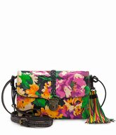 Patricia Nash Summer Evening Bloom Collection Bianco Braided Convertible Tasseled Cross-Body Bag