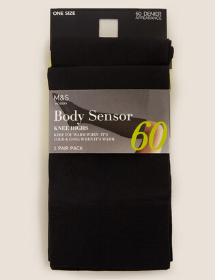 Marks and Spencer 2pk 60 Denier Body Sensor Opaque Knee Highs