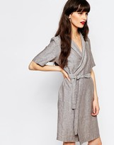 Just Female Genova Wrap Shirt Dress