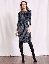 Boden Boatneck Ruched Dress