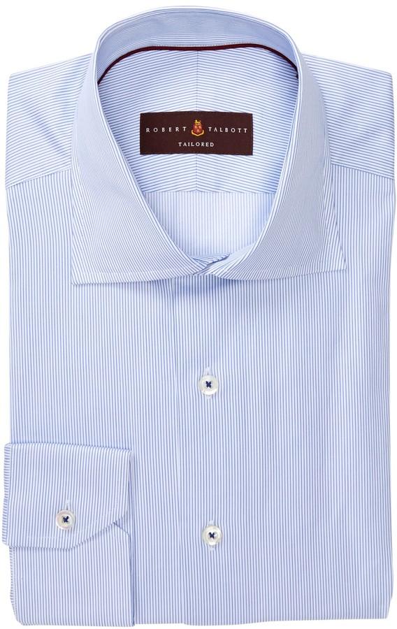 Robert Talbott Tailored Fit Micro Stripe Dress Shirt
