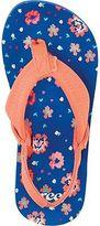 Reef Little Ahi Sandal - Girls' Blue Floral 11.0/12.0