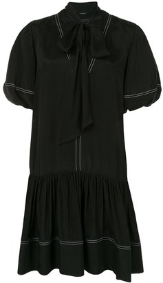 GOEN.J Neck-Tied Flared Dress