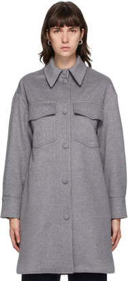 Stella McCartney Grey Wool Kerry Coat