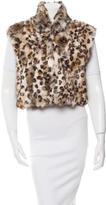 Adrienne Landau Fur Leopard Print Vest