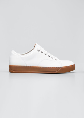Lanvin Men's Bicolor Leather Low-Top Sneakers