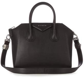 Givenchy Antigona Small Leather Bag - Womens - Black