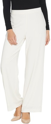 Susan Graver Petite Stretch Woven Full Length Pull-On Pants