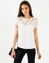 Lipsy Embroidered Floral Pearl Top