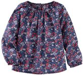 Osh Kosh Toddler Girl Shirred Long Sleeve Floral Top