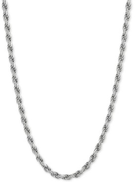 """Giani Bernini Rope Link 20"""" Chain Necklace in Sterling Silver"""