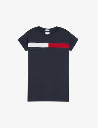 Tommy Hilfiger Flag logo organic cotton T-shirt dress 4-16 years