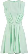 Vionnet Pleated silk mini dress