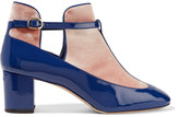 Valentino Patent-leather and velvet ankle boots