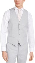 Alfani Men's Slim-Fit Stretch Light Gray Solid Suit Vest, Created For Macy's