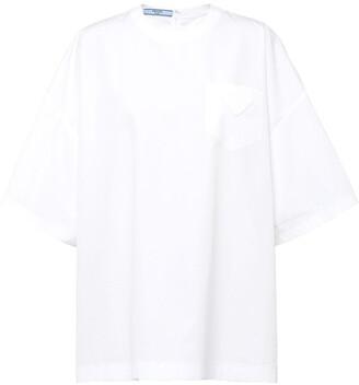 Prada flap-pocket cotton T-shirt