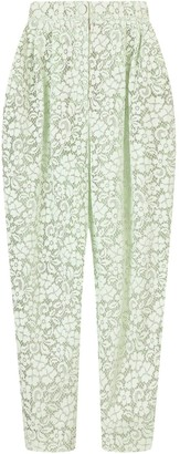 Dolce & Gabbana Floral-Lace Cropped Trousers