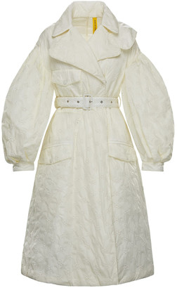 MONCLER GENIUS + Simone Rocha Dinah Oversized Belted Shell Coat