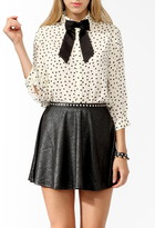 Thumbnail for your product : Forever 21 Polka Dot Shirt w/ Bow Tie
