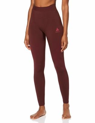 Odlo Bl Bottom Long Performance Warm - Decadent Chocolate/Cerise Underwear - Women Women's 188051-30640