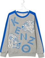 Kenzo wild cats print sweatshirt - kids - Cotton - 14 yrs