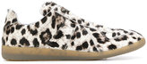 Maison Margiela slip on leopard sneakers - men - Leather/Calf Hair/rubber - 41