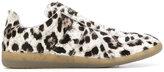 Maison Margiela slip on leopard sneakers