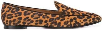 Aquazzura leopard print flat loafers