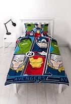 "Disney Marvel Avengers ""Tech"" Single Duvet Set - Repeat Print Design"