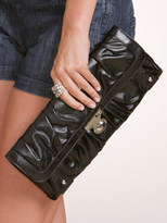 Arden B Elongated Ruched Clutch