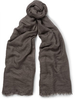 Rick Owens - Cashmere And Silk-blend Scarf