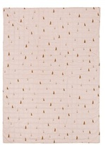 ferm LIVING Rose Pink Cone Quilted Blanket