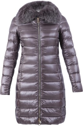 Herno Elisa Fur Trimmed Padded Coat