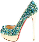 Christian Louboutin Very Mix Strass Spike Pumps