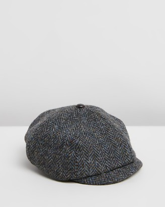 Pappe - Grey Caps - Stanley Paperboy Tweed Hat - Kids - Size One Size, M at The Iconic